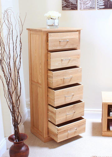 Robin Oak Tallboy (6 Drawer)
