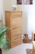 Load image into Gallery viewer, robin oak tallboy 6 drawer