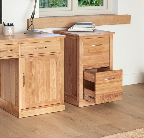 Robin Oak Two Drawer Filing Cabinet