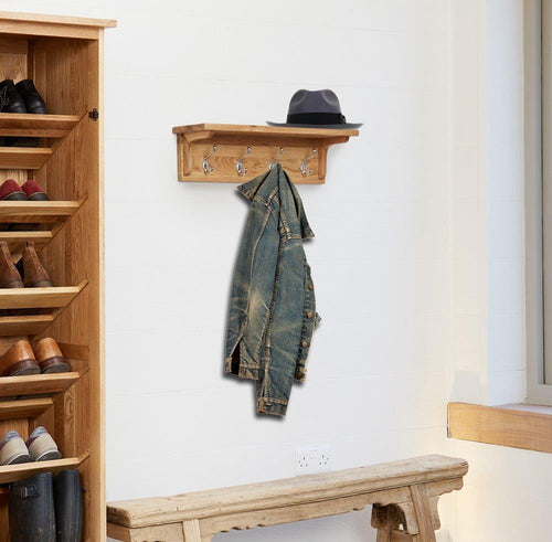Robin Oak Wall Mounted Coat Rack
