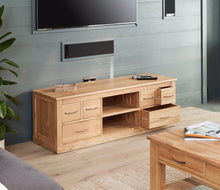 Load image into Gallery viewer, robin oak widescreen television cabinet