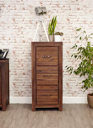 Royal Walnut 3 Drawer Filing Cabinet