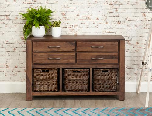 Royal Walnut Console Table