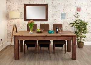 royal walnut extending dining table