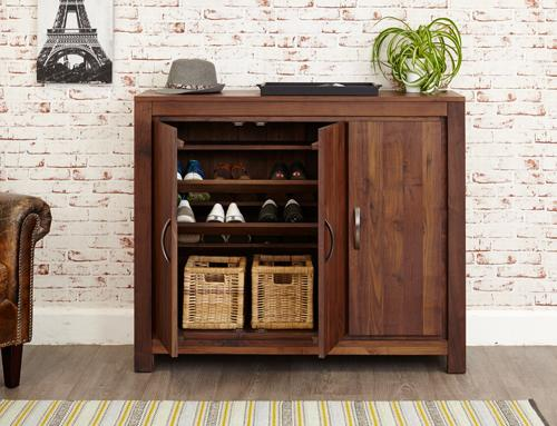 Royal Walnut Extra Large Shoe Cupboard