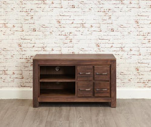 royal walnut four drawer television cabinet