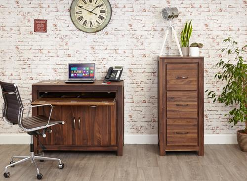 Royal Walnut Hidden Home Office