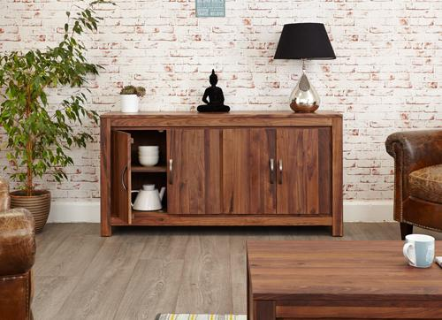 Royal Walnut Large Low Sideboard