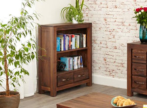 royal walnut low bookcase
