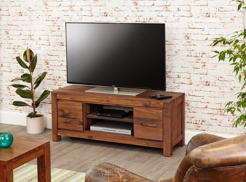Royal Walnut Low Widescreen Television Cabinet