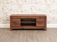 Load image into Gallery viewer, royal walnut low widescreen television cabinet