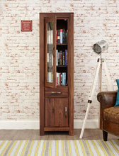 Load image into Gallery viewer, royal walnut narrow glazed bookcase