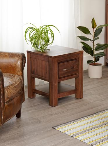 Royal Walnut One Drawer Lamp Table