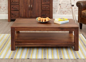 Royal Walnut Open Coffee Table