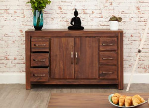 royal walnut six drawer sideboard