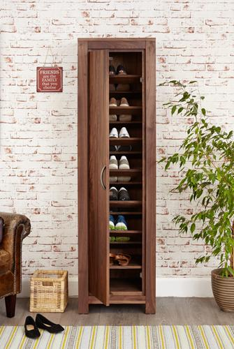 Royal Walnut Tall Shoe Cupboard