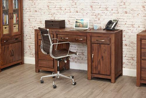 Royal Walnut Twin Pedestal Computer Desk