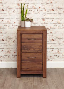 royal walnut two drawer filing cabinet