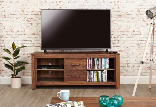 Royal Walnut Widescreen Television Cabinet