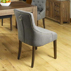 walnut accent dining chair stone