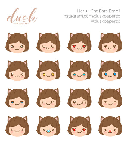 Haru - Cat Ears Emoji