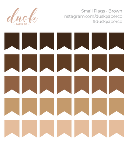 BTB - Small Flags (Brown)