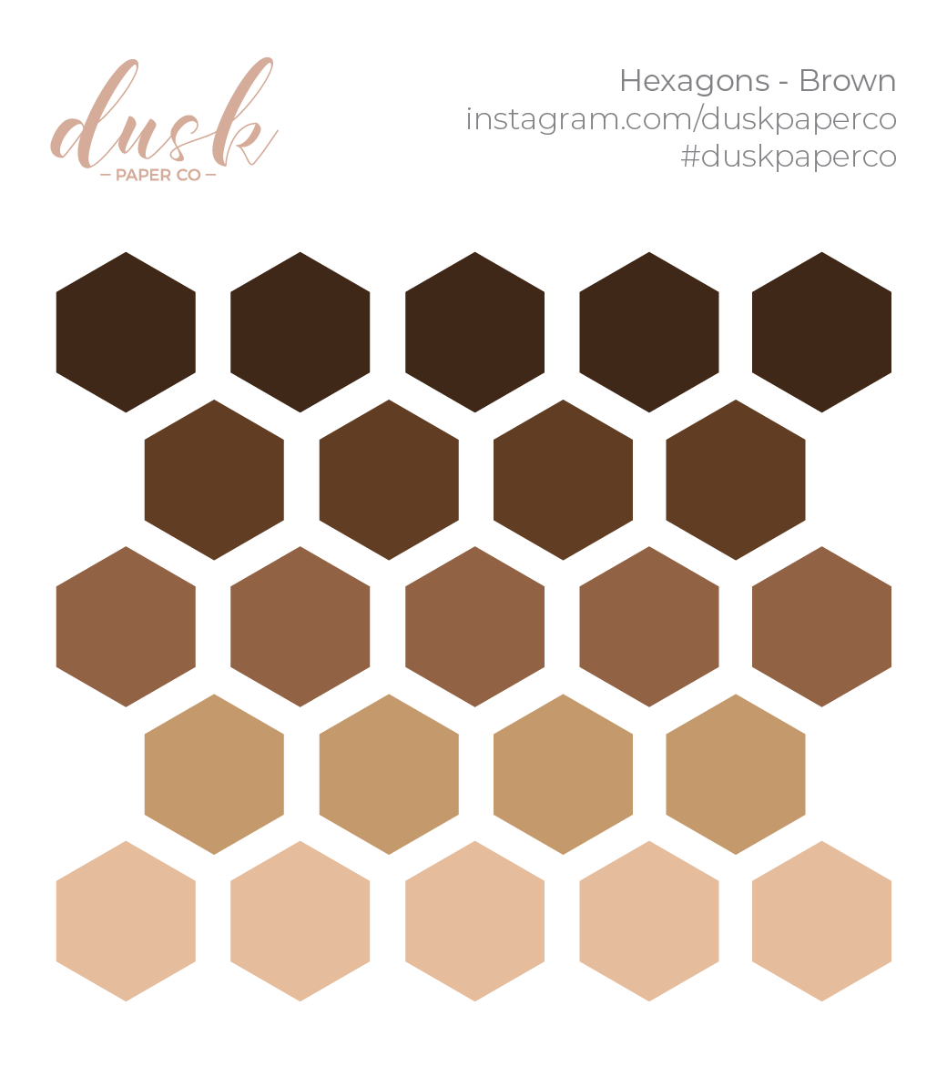 BTB - Hexagons (Brown)