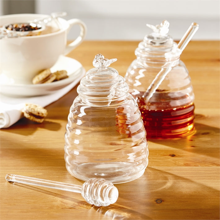 Two's Company - Honey Pot w/ Lid/Dipping Stick