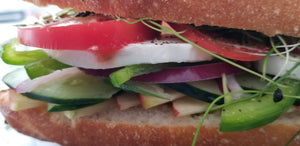 THURSDAY - Fresh Veggie Baguette Sandwich