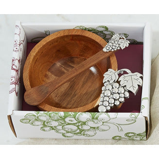 Two's Company - Wood Bowl in Gift Box - Small