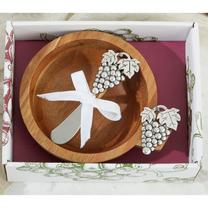 Two's Company - Wood Bowl in Gift Box - Large