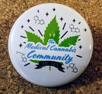 "The Medical Cannabis Community ""Logo"" 4-Pack 1.5"" Button"