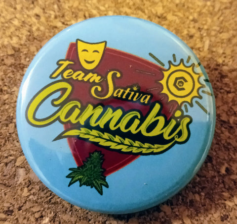 """Team Sativa"" 1.5"" button"