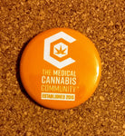 "The Medical Cannabis Community ""Color Logo"" 4-Pack 1.5"" Button"