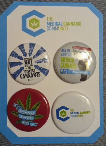 "The Medical Cannabis Community ""Advocate"" 4-Pack 1.5"" Button"