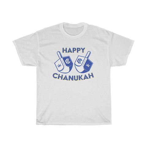 Happy Chanukah Dreidel Unisex Heavy Cotton Tee