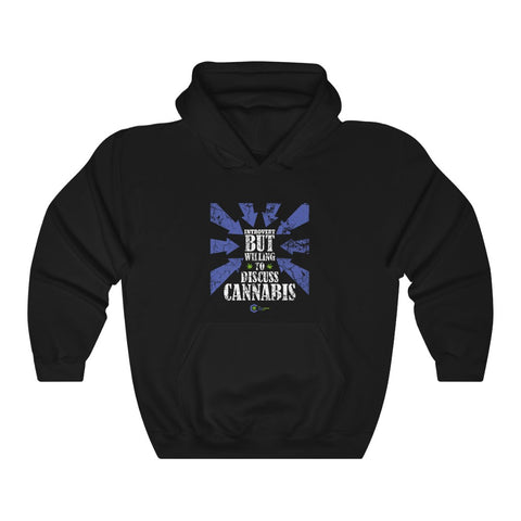 Introvert But Willing to Discuss Cannabis Heavy Blend Hoodie