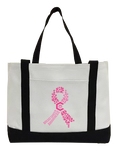 Breast Cancer Awareness Canvas Bag