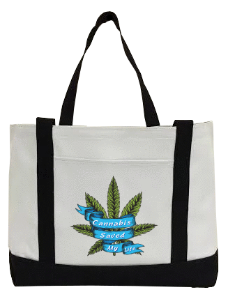 Cannabis Saved My Life Canvas Bag