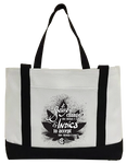Sativa to Change & Indica to Accept Canvas Bag