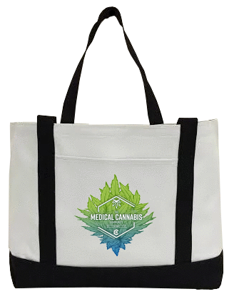 Cannabinoid Icon Canvas Bag