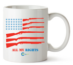 All My Rights Flag Mug 11 Oz