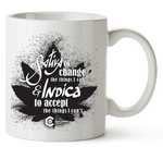 Sativa to Change & Indica to Accept Mug 11 Oz
