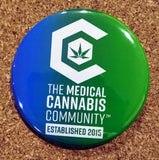 "The Medical Cannabis Community ""Logo Duo"" 2-Pack 2 1/4"" Buttons"