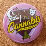 "The Medical Cannabis Community ""Sativa/Indica"" 2-Pack 2 1/4"" Buttons"