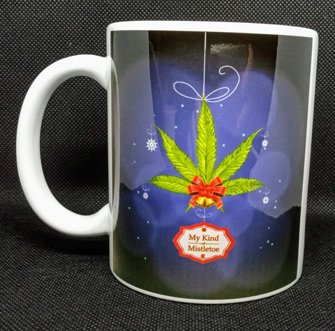 """My Kind of Mistletoe"" Christmas Mug 11 Oz"