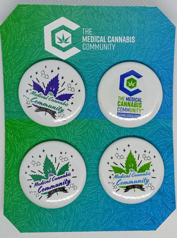 "The Medical Cannabis Community ""Leaf"" 4-Pack 1.5"" Button"