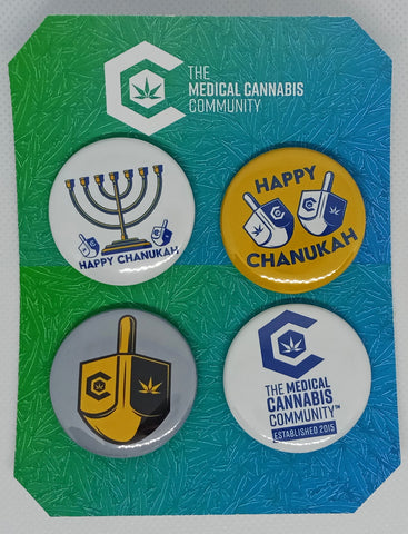 "Chanukah 4-Pack 1.5"" Button"
