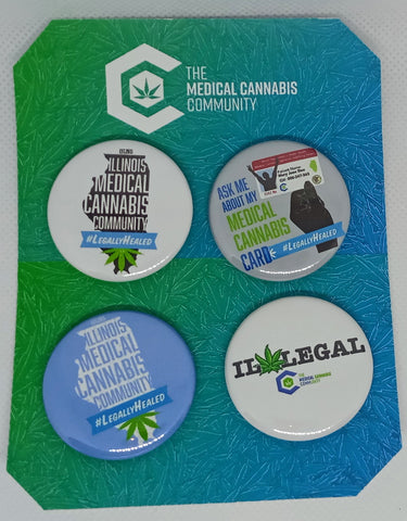 "The Medical Cannabis Community Illinois 4-Pack 1.5"" Button"