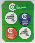 "The Medical Cannabis Community New York Pack 4-Pack 1.5"" Buttons"